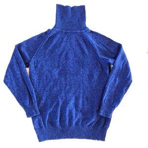 KAREN SCOTT Blue Turtle Neck Sweater, Size M.